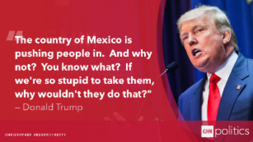 Statement of Donald Trump Against Latino Migrants