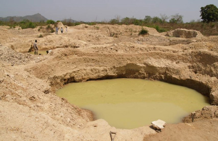 Abandoned mine in Sierra Leone.