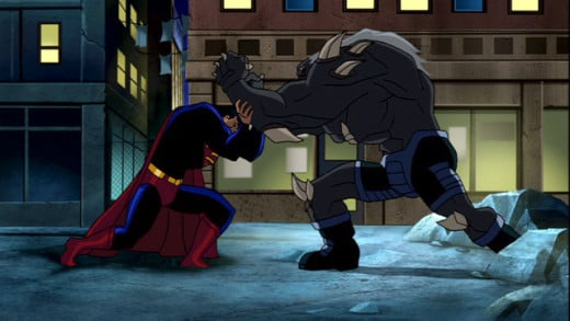 Superman vs the terrifying Doomsday