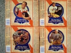 What do you think about the 4 sports that Pabst Blue Ribbon chose to represent on their beer label?