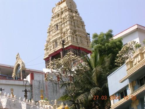 Temple atop Hill near Vizag Harbor
