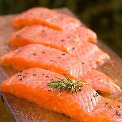 4 Wild Salmon Steaks