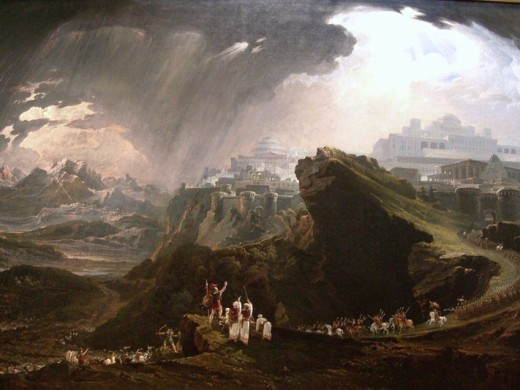 Joshua Commanding the Sun to Stand Still upon Gibeon by John Martin
