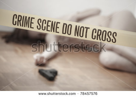 Dead Woman At Domestic Violence Crime Scene