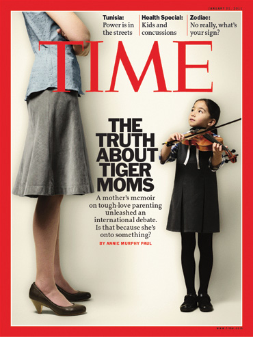 Tiger Moms on the cover of TIME magazine