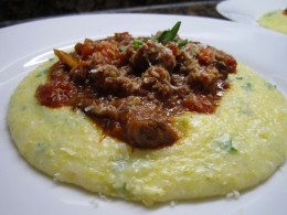 Wild boar ragu with polenta