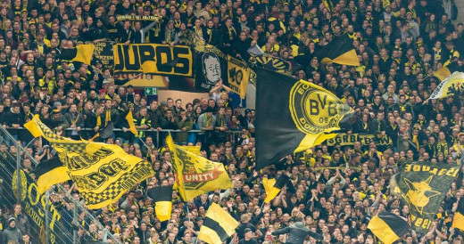 Borussia Dortmund fans at Coface Arena