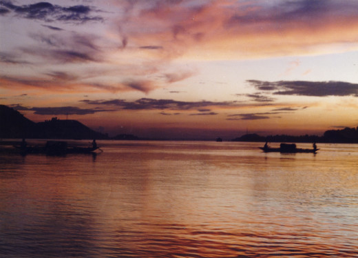 An evening on Brahmaputra River