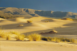 Roaring dunes at Olifantshoek, Northern Cape Province, South Africa