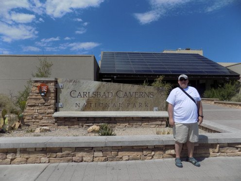 Me standing outside the Visitors Center before I entered Carlsbad Caverns.