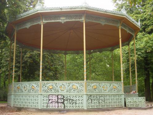 Bandstand in Brussels Park, Brussels, Belgium.