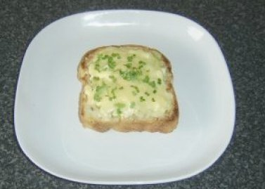 Grilled Cheese, Egg and Salad Cress Granary Open Sandwich