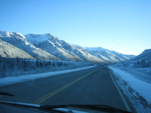 Most locations in my stories are places I've visited, like the road to Fairbanks, Alaska