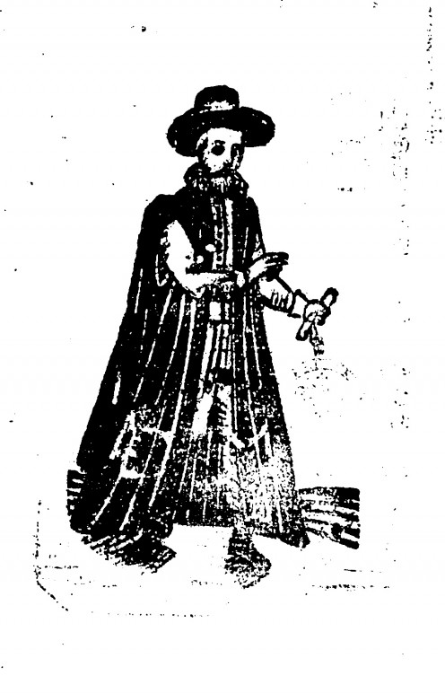The only known image of Rev. Patrick Makel Wian taken from a C17th woodcut
