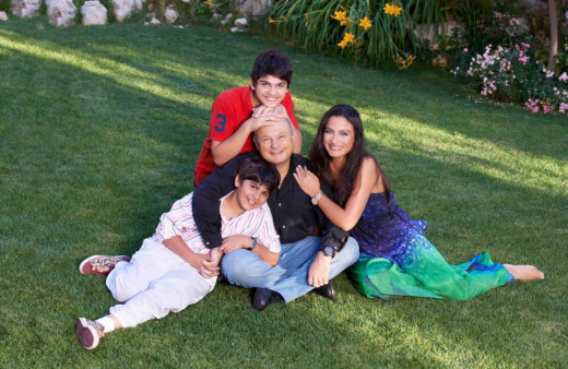 Elias Joseph Skaff with wife Myriam Skaff and beloved Sons Joey and Jibran Skaff.