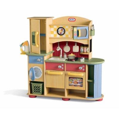 Little Tikes Kitchen Set- Kids Wooden Kitchen & Laundry Center