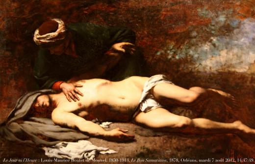 Le Jour ni l'Heure 6617 : Louis-Maurice Boutet de Monvel, 1850-1913, Le Bon Samaritain, 1878