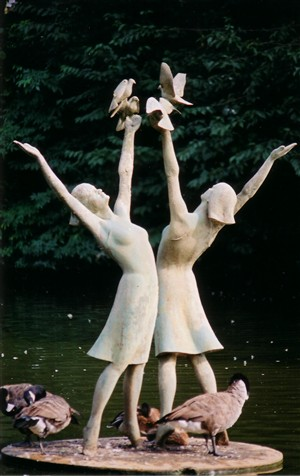 Women and Doves, by David Norris