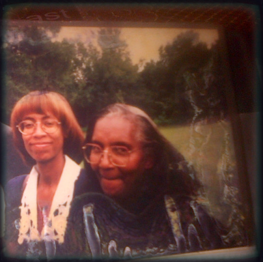 Granny on the left...@ her Nephew's Funeral in Florida 1996