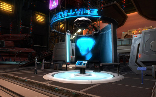 The Appearance Designer Kiosk on the Republic Fleet is located in the Cartel Bazaar. Take the northern elevator.