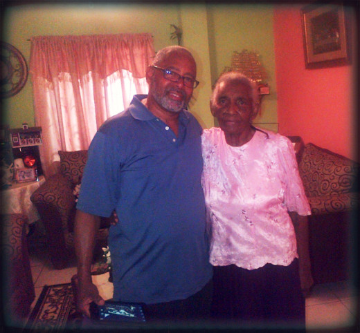 Stephen and Granny April 2015