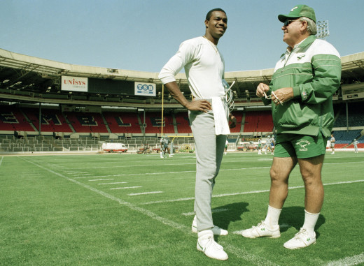 Ex Eagles QB Randall Cunningham and ex-Eagles head coach Buddy Ryan