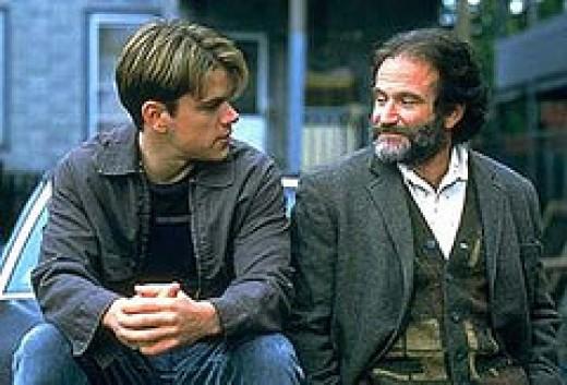 Matt Damon and Robin Williams 1998
