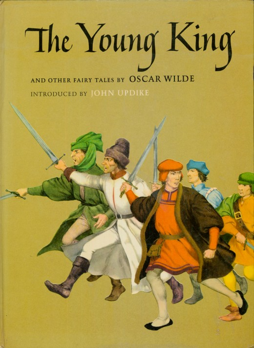 The Young King and Other Fairy Tales by Oscar Wilde. Introduced by John Updike, illustrated by Sandro Nardini and Enrico Bagnoli, made by the Macmillan Company, New York and London. Printed in 1962