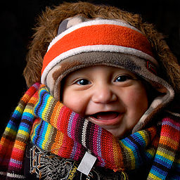 Safety and comfort: A well clothed baby
