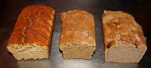 Gluten free bread made with quinoa and buckwheat.