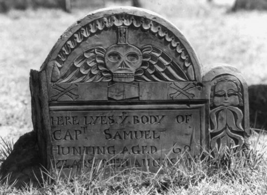 Tombstone with winged death's head