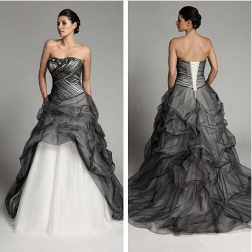 Ruched Tulle Wedding Dress
