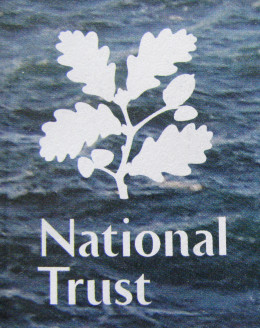 National Trust Emblem of a sprig of oak leaves with acorn