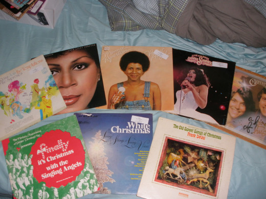 Some of the albums I've acquired.  Christmas albums seem to be plentiful in Goodwill stores, but are mostly the exact same albums.
