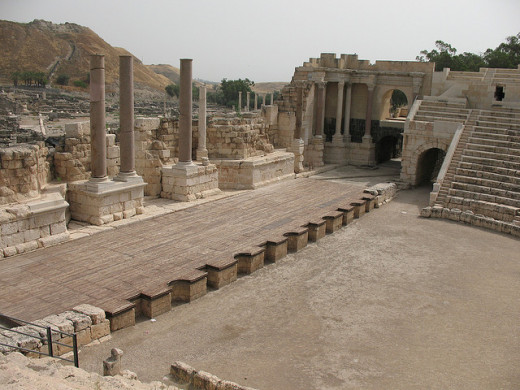 Beit She'an Theater stage