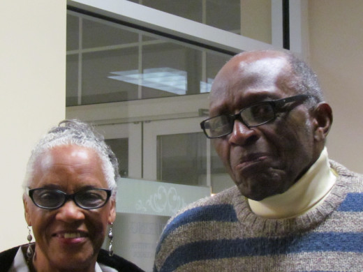 Parents of Walt Dixon, Donald and Evelyn Dixon, celebrated the with the happy couple.