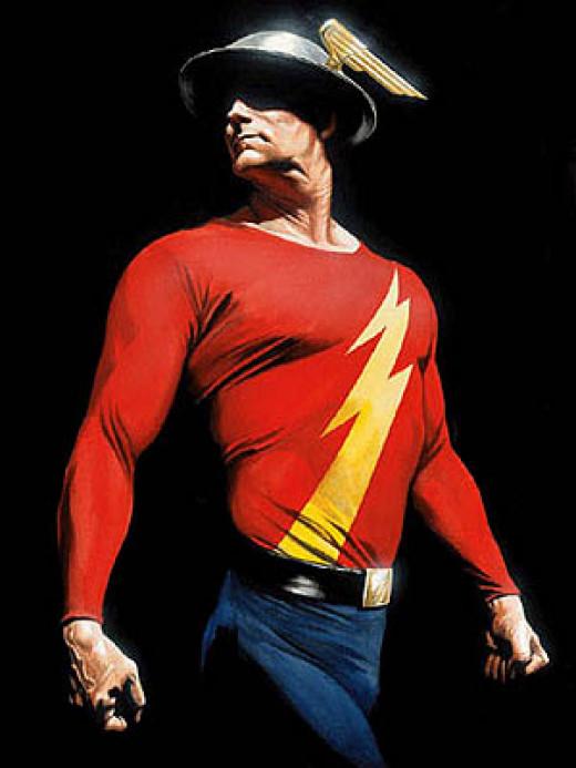 Jay Garrick, the original Flash. Cover art for JSA #78, by Alex Ross.