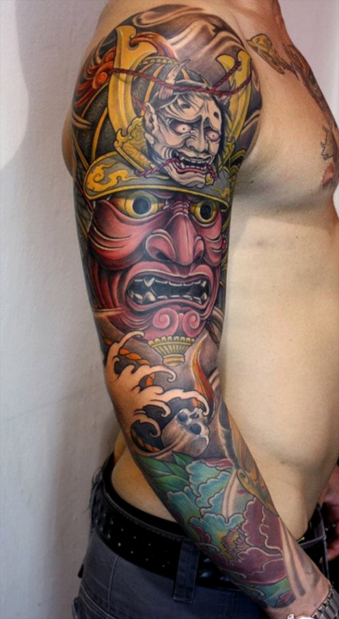 Hannya on top of a Samurai Helmet