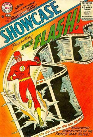 """Showcase4"" by ""Showcase #4"" at The Grand Comics Database. Retrieved December 25, 2004.. Licensed under Fair use via Wikipedia - https://en.wikipedia."