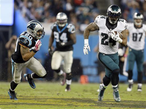 Philadelphia Eagles RB Ryan Matthews scoring on a 63-yard TD run