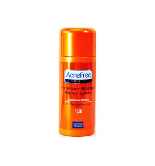 AcneFree Maximum Strength Repair Lotion.