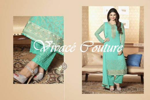 Pastel Turquoise Salwar suit available in Bangladesh