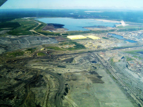 Some Oil Tar Sands in Fort McMurray in Alberta Province.