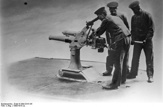 Retractable gun to use in surface attack. Bundesarchiv_DVM