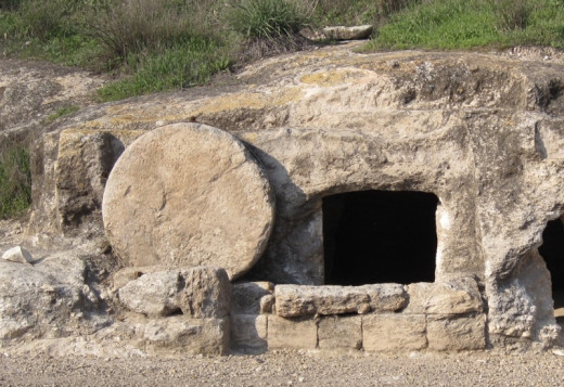 Tomb, similar to what Jesus would have been lain in.