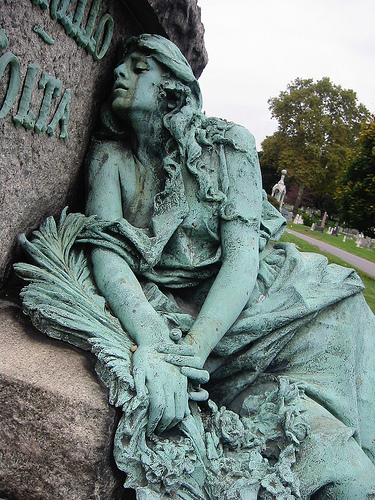 Grief depicted using sculpture