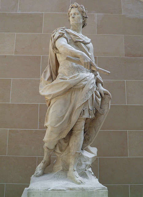 Statue of Julius Caesar by French sculptor Nicolas Coustou