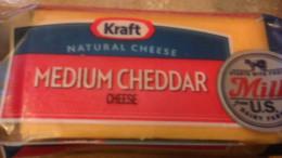 Kraft Medium Cheddar Cheese on Sale 2/$4