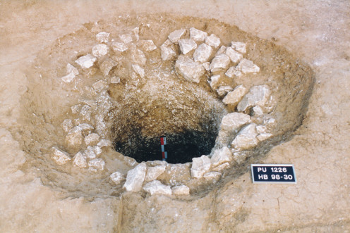 A fully excavated well feature from Henin Beaumont, Northern France - Roman period.