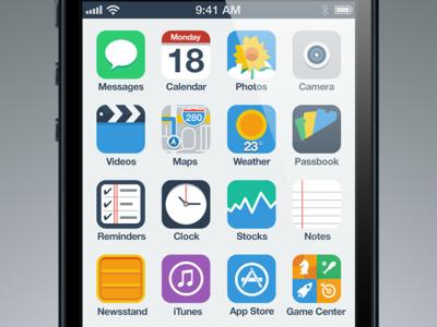 Flat UI iOS 9